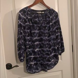 100% Silk Cynthia Rowley Navy/Blue Blouse S